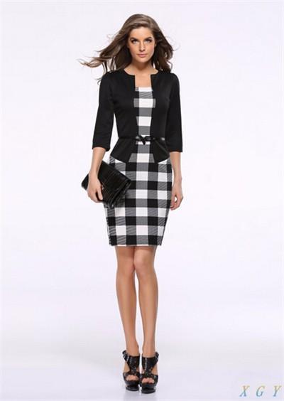 Business Casual Plaid Dress U2013 Jersey Fashion